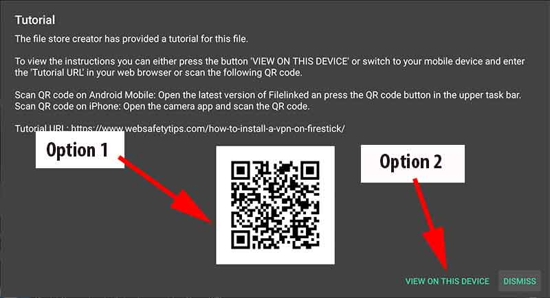 filelinked video tutorial qrcode and link