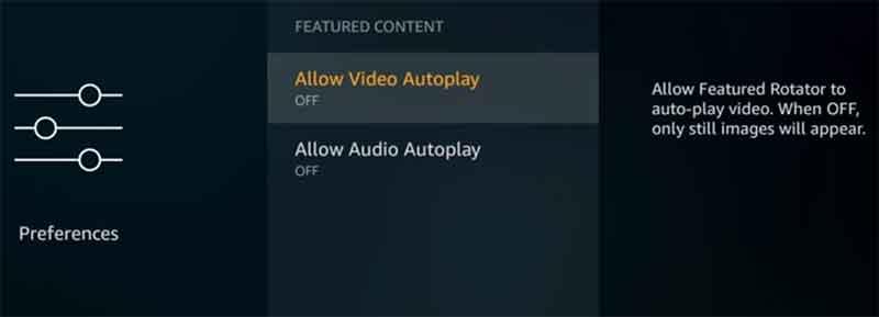 firestick video-audio-autoplay