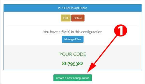 create new configuration filelinked