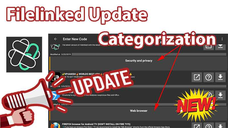 Filelinked Categorization update