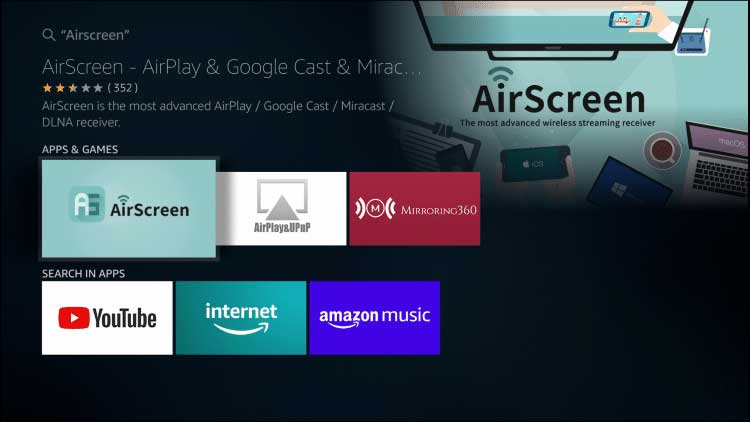 AirScreen Search result amazon Store