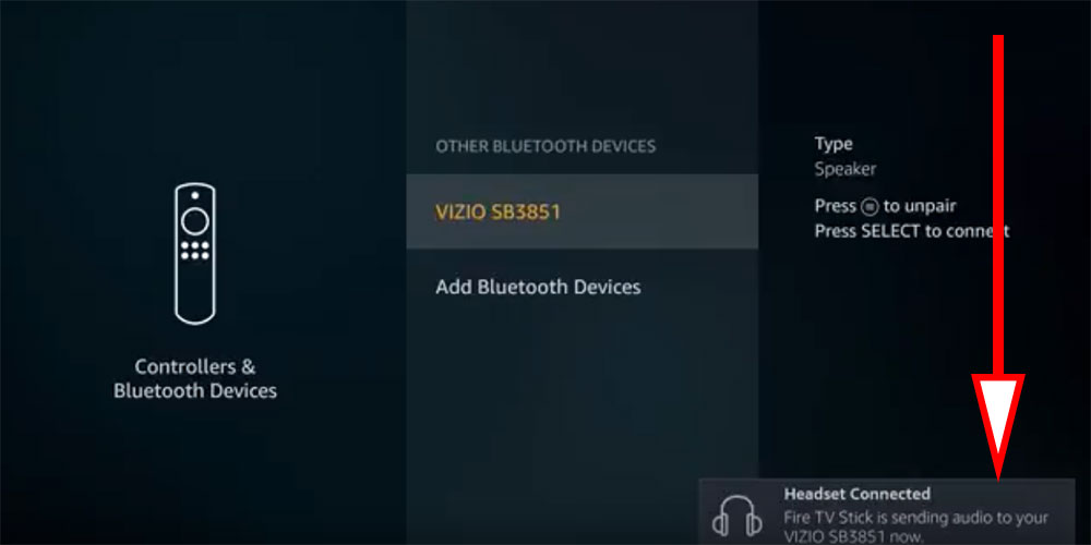 firestick bluetooth speaker connected