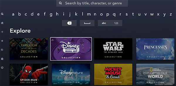 Disney Plus Search