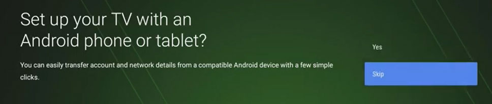 setup tv with Android phone