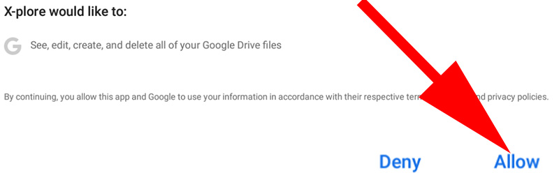 x plore accessing your Google Drive