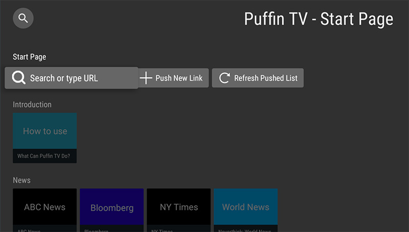 Puffin TV for Android TV