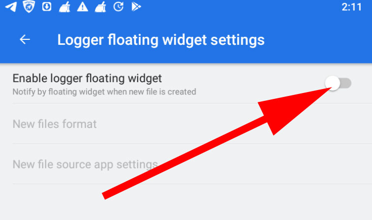 disable ES File Explorer Floating Widget
