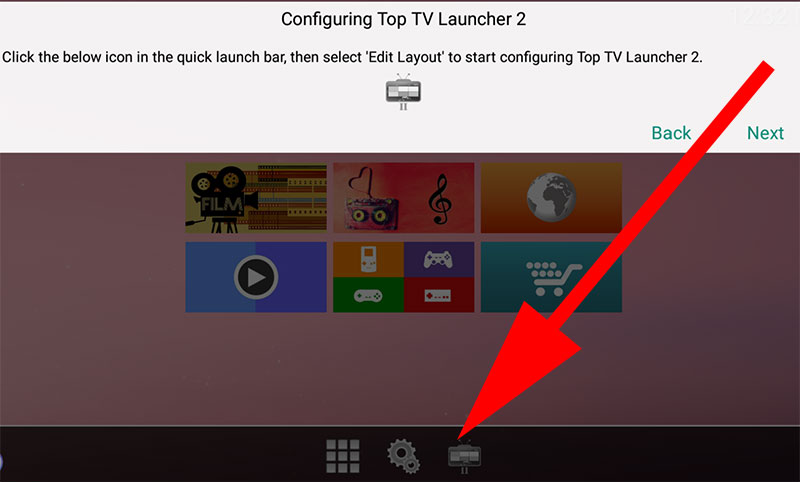 Top TV Launcher Edit Layout