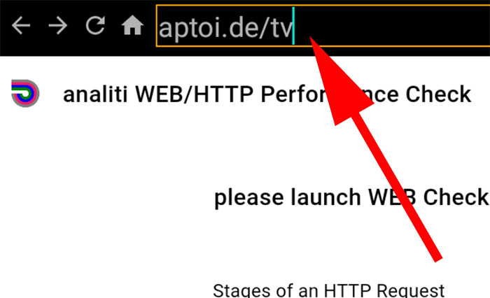 Aptoide TV URL on Analiti Web Check