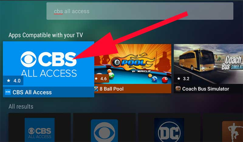 CBS All access for Fire TV Stick