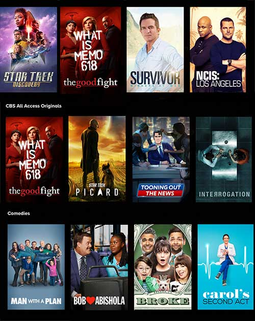 CBS all Access Movies