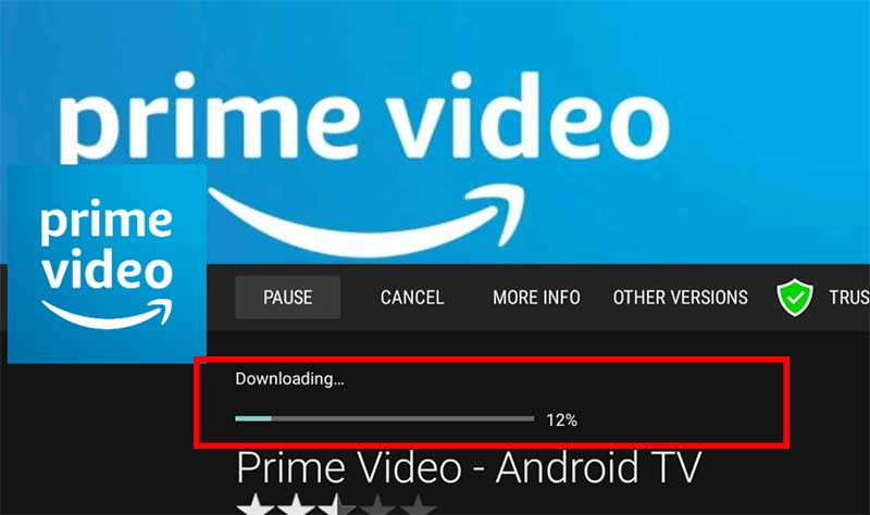 Downloading Amazon Prime Videos App