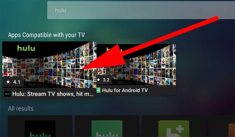 Hulu Search on Aptoide TV