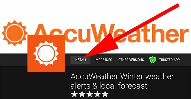 Install AccuWeather TV APK - Aptoide TV