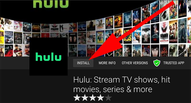 Install Hulu on Android TV