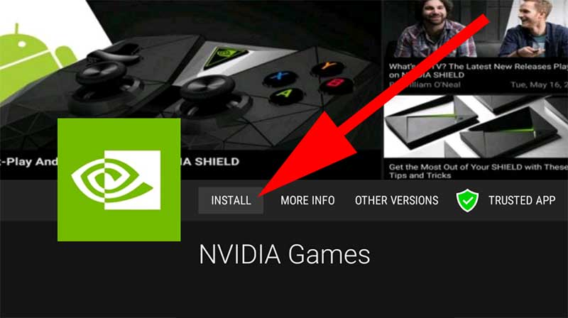 Install Nvidia Shield Games app on Android TV