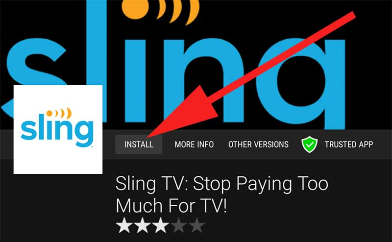 Install Sling TV on Android TV and Fire TV