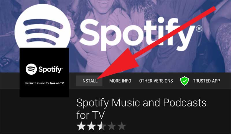 Install Spotify for TV