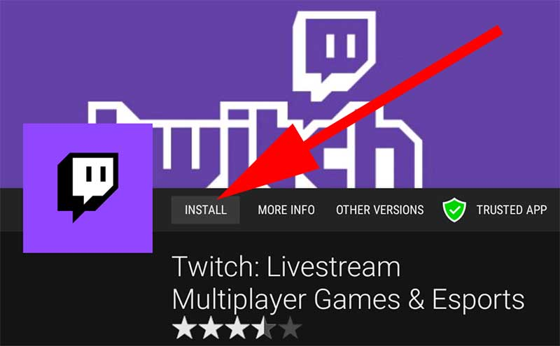 Install Twitch on Android TV free