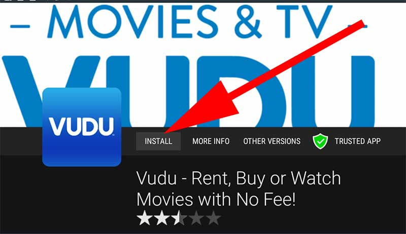 Install Vudu on Fire TV Stick