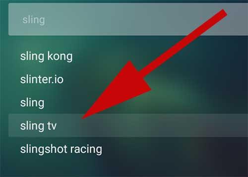 Search Sling TV on Aptoide TV