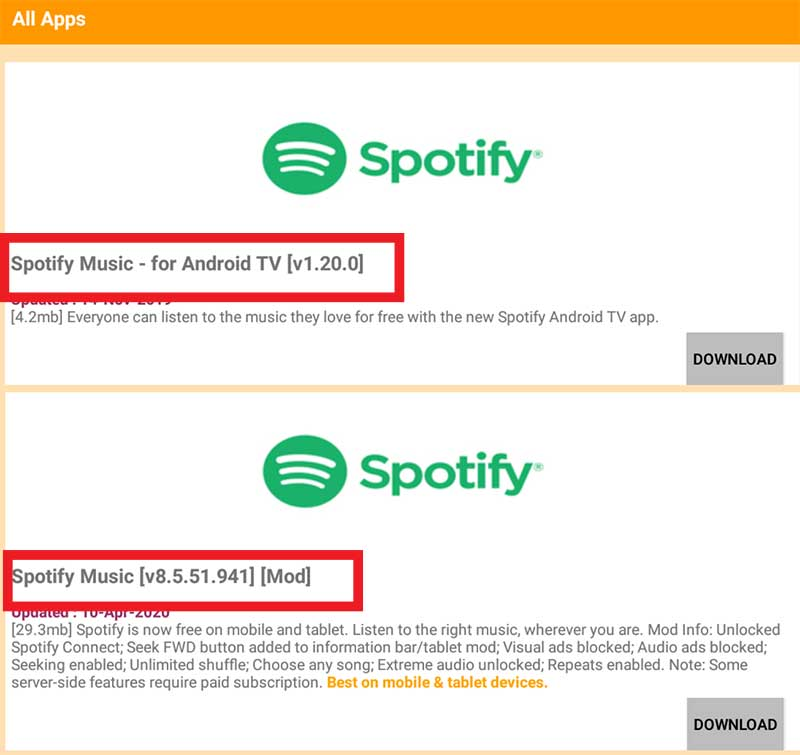 Spotify for TV APKTime
