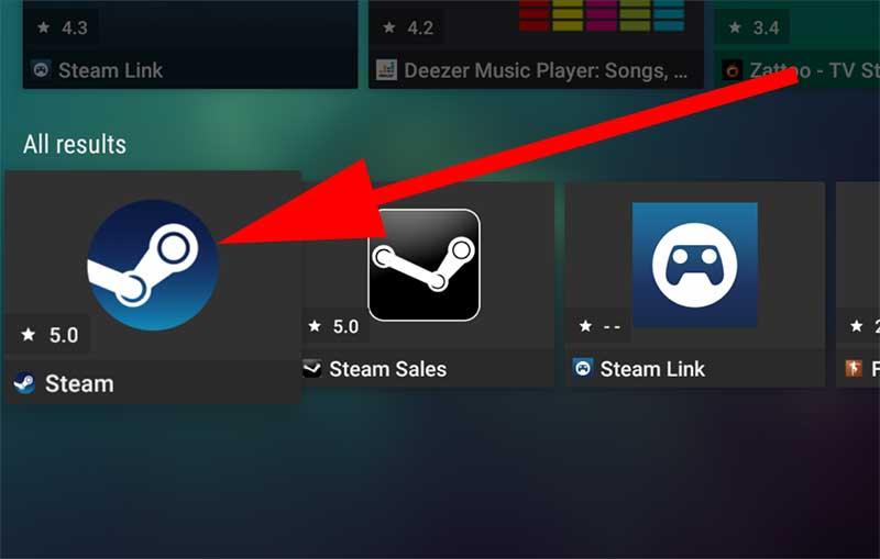Steam app on Aptoide TV