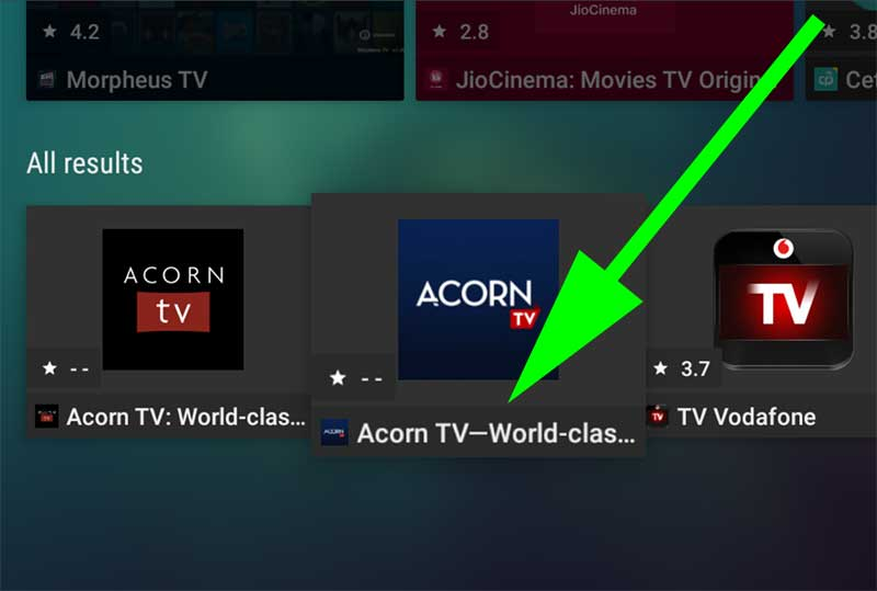 Accorn TV apk for Android TV