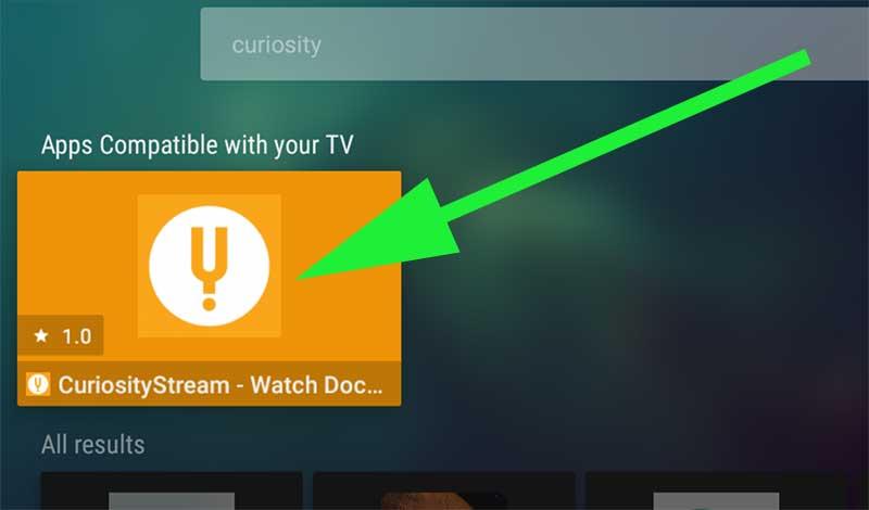 CuriosityStream on Aptoide TV