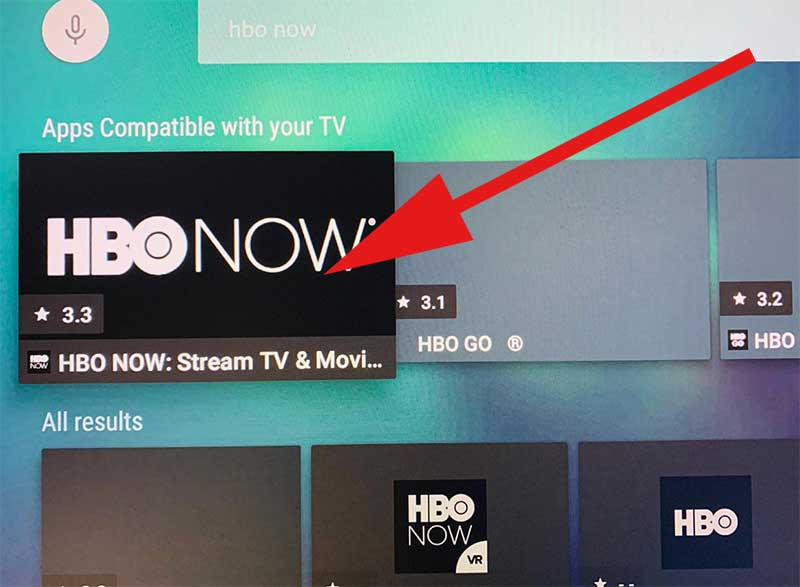 HBO NOW on Android TV