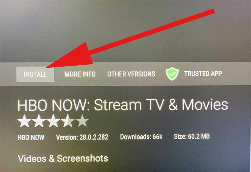 Install HBO NOW