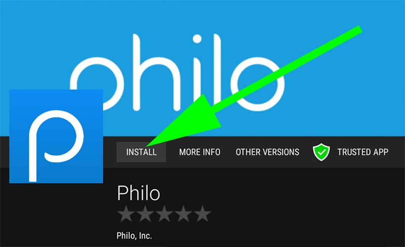 Install Philo APK Android TV