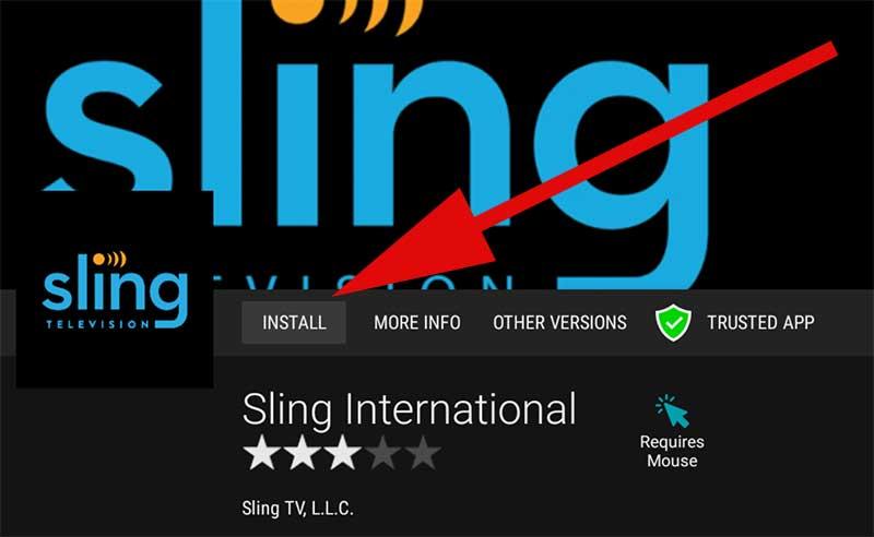 Install Sling International Android TV