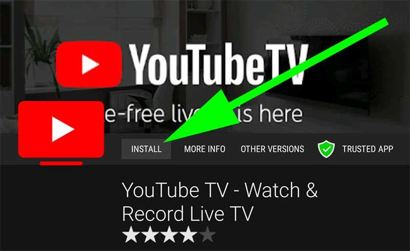 Install YouTube TV