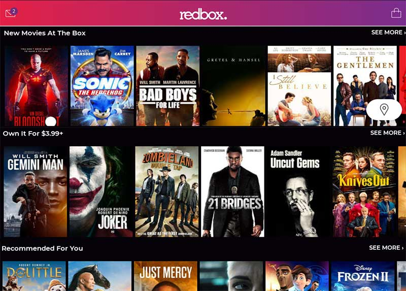 Redbox - rent stream and buy movies