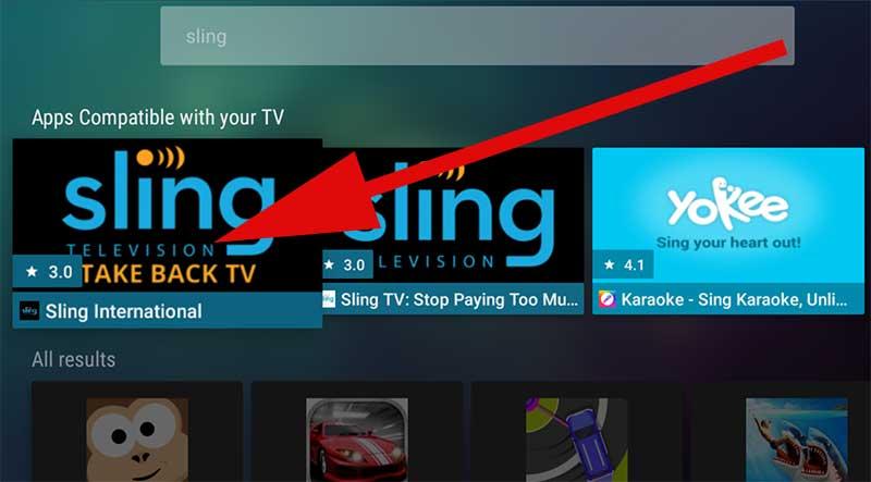 Sling International apk Android TV