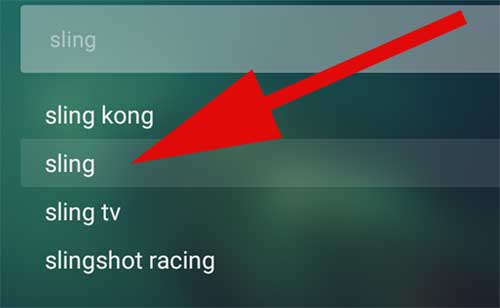Sling Search on Aptoide TV