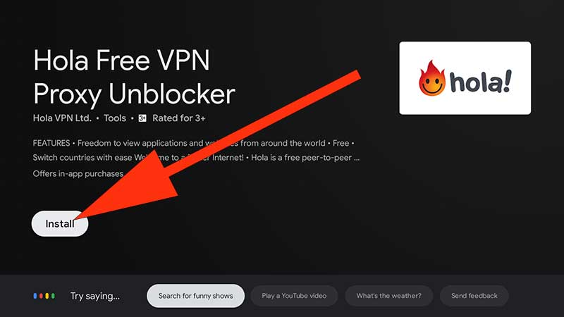 Download Hola VPN TV