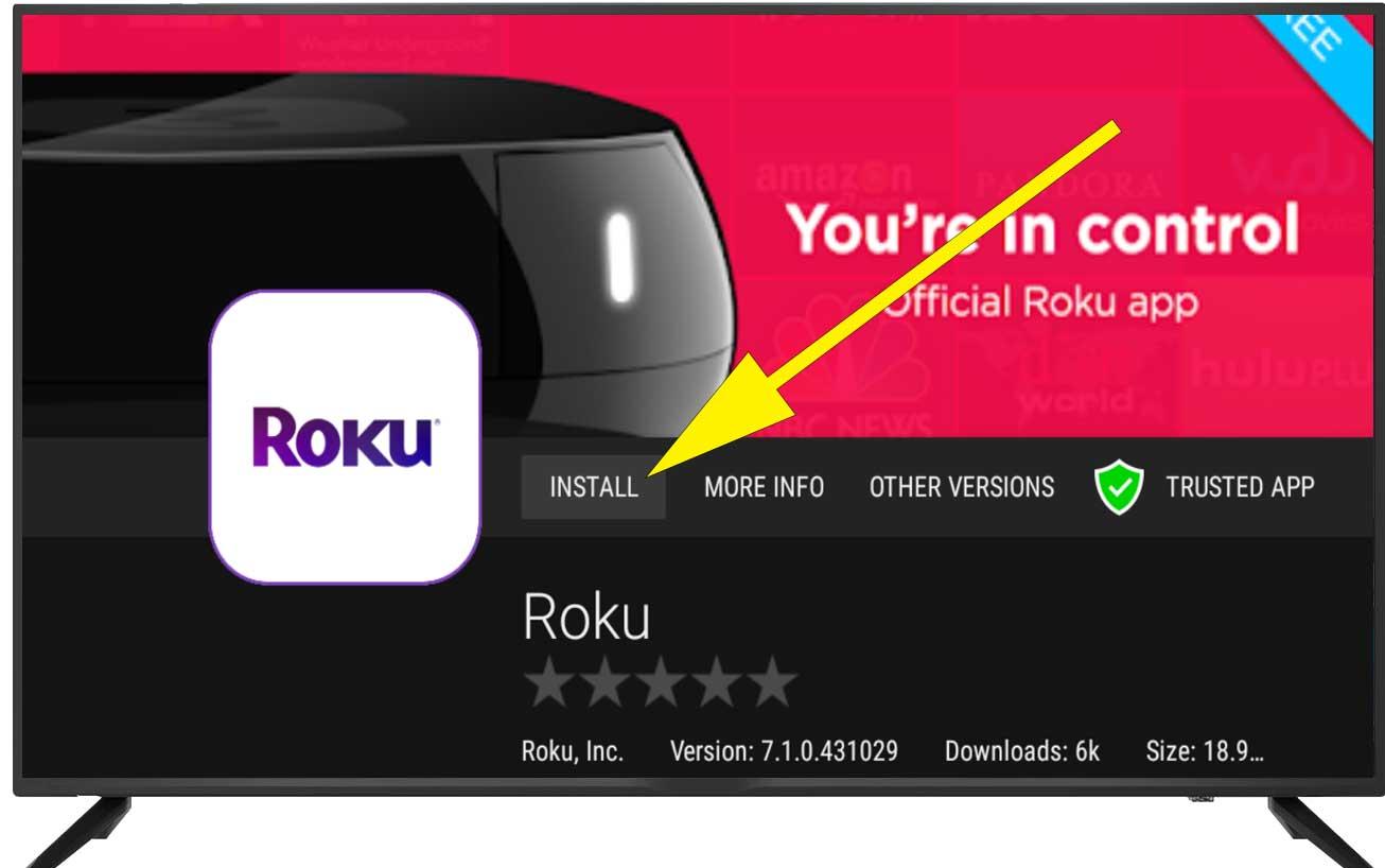 Install ROKU TV Fire TV