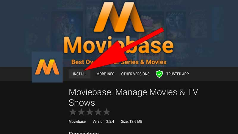 Install MovieBase Android TV