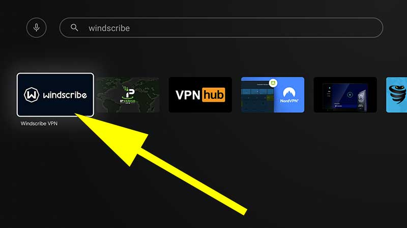 Windscribe VPN for Android TV