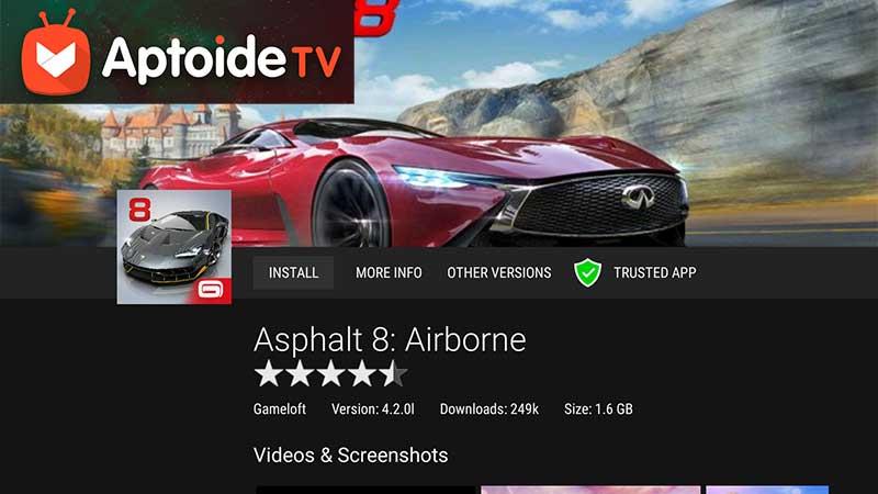 Asphalt 8 Racing game for Android TV aptoide TV