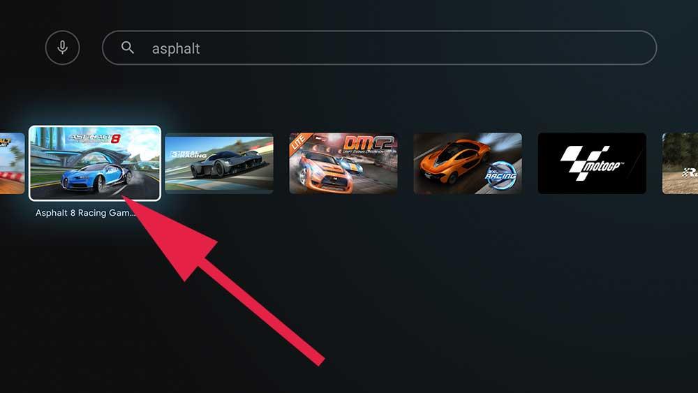 Asphalt 8 racing game Android TV