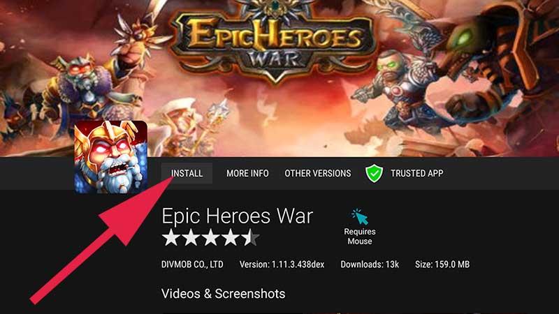 Epic Heroes war Fire TV Stick