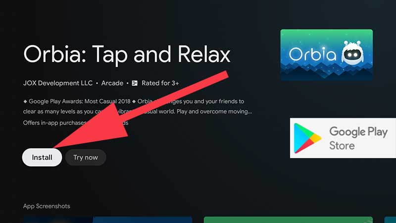 Install Orbia Tap And Relax Google TV