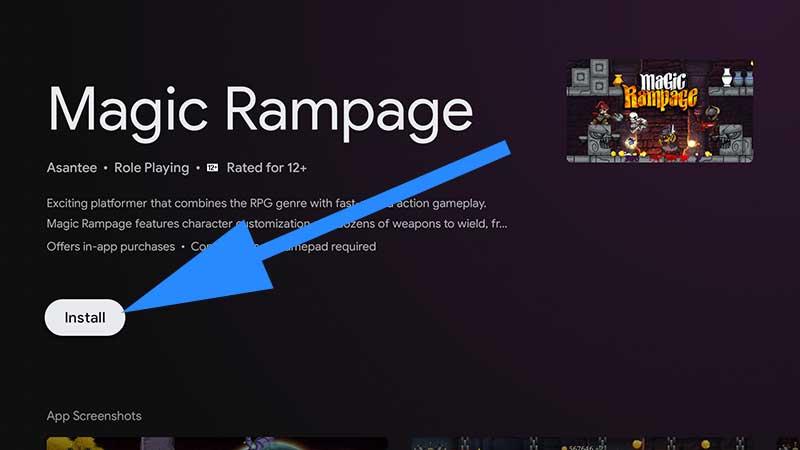 Magic Rampage Google TV install