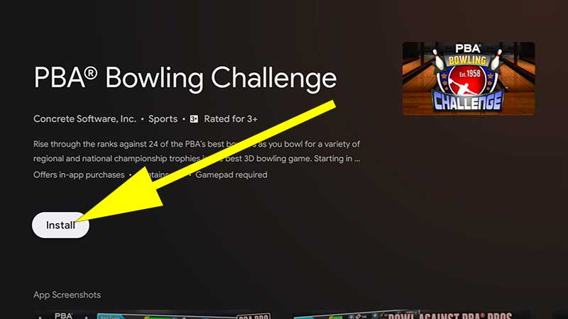PBA Balling Challenge Install Android TV