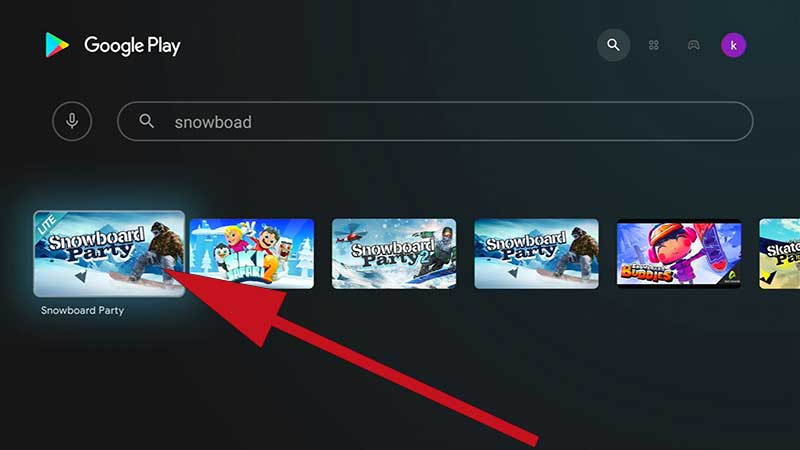 Snowboard party Lite TV Game Search