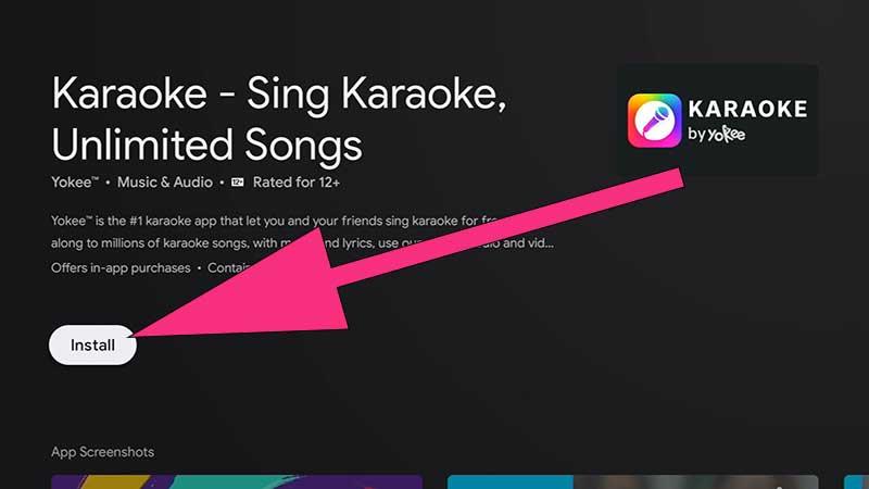 Sing Karaoke Android TV, install karaoke android tv, fire tv karaoke