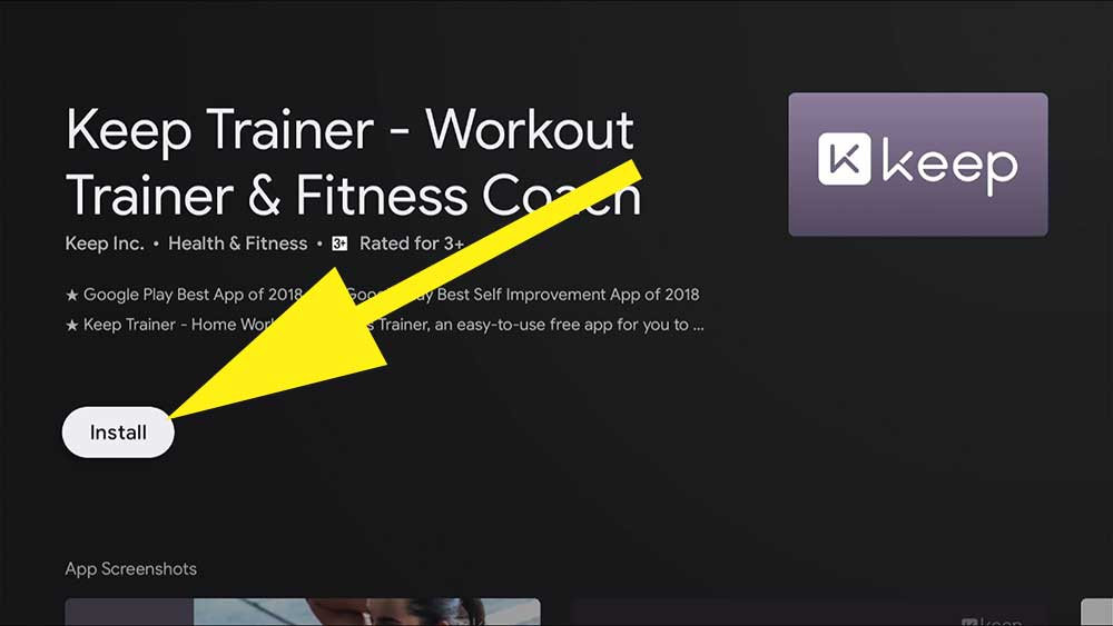 Home Workout app for fire tv stick